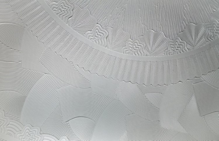 textured ceiling containing asbestos fibres