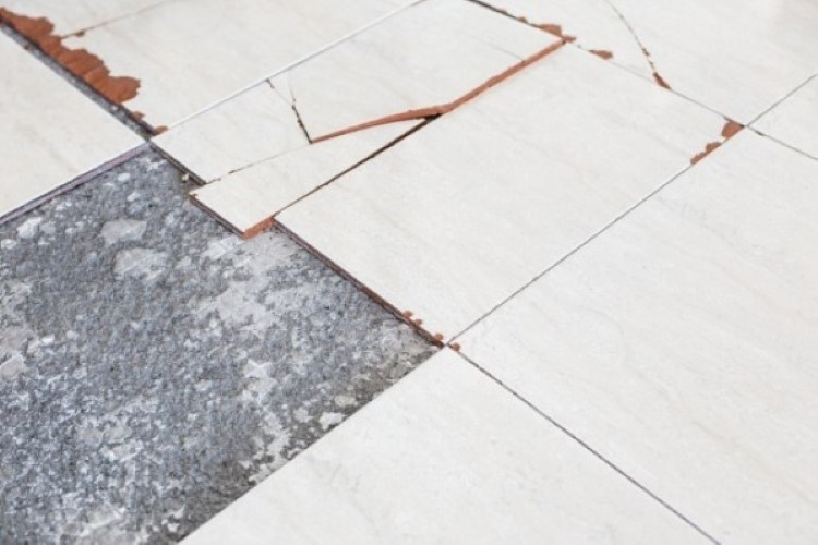 asbestos in floor tile cement