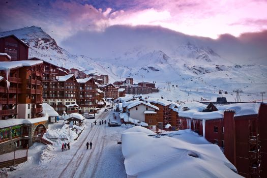 View of Val Thorens, France