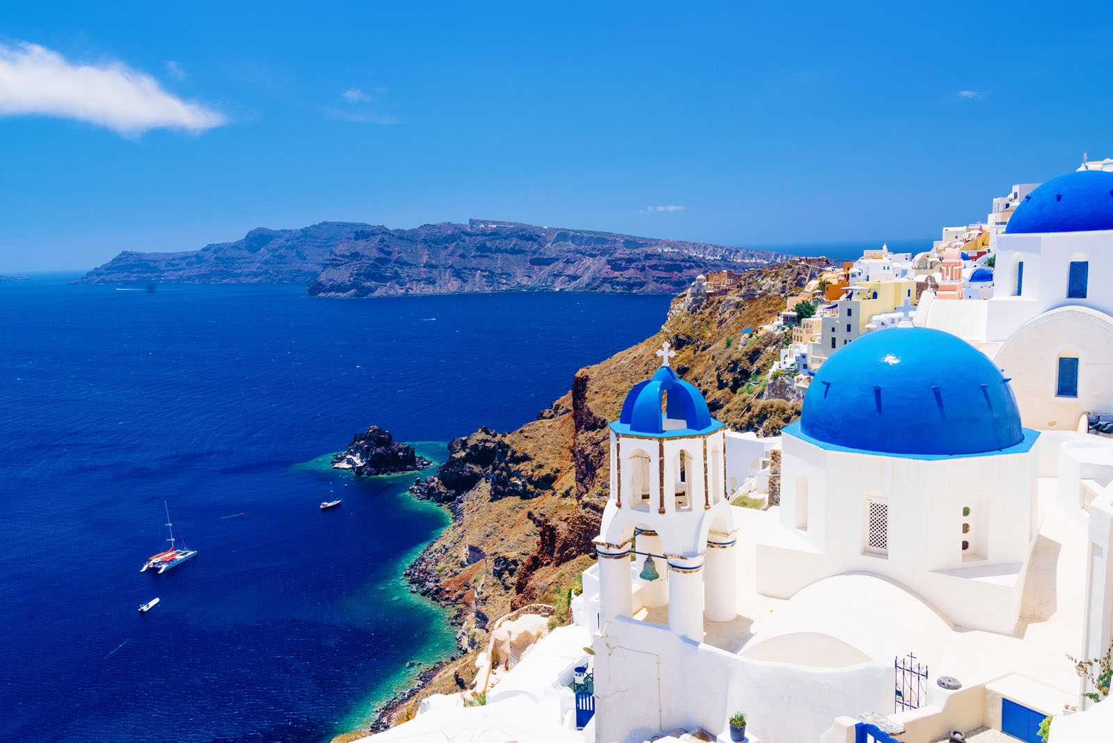 View of Santorini, Greece