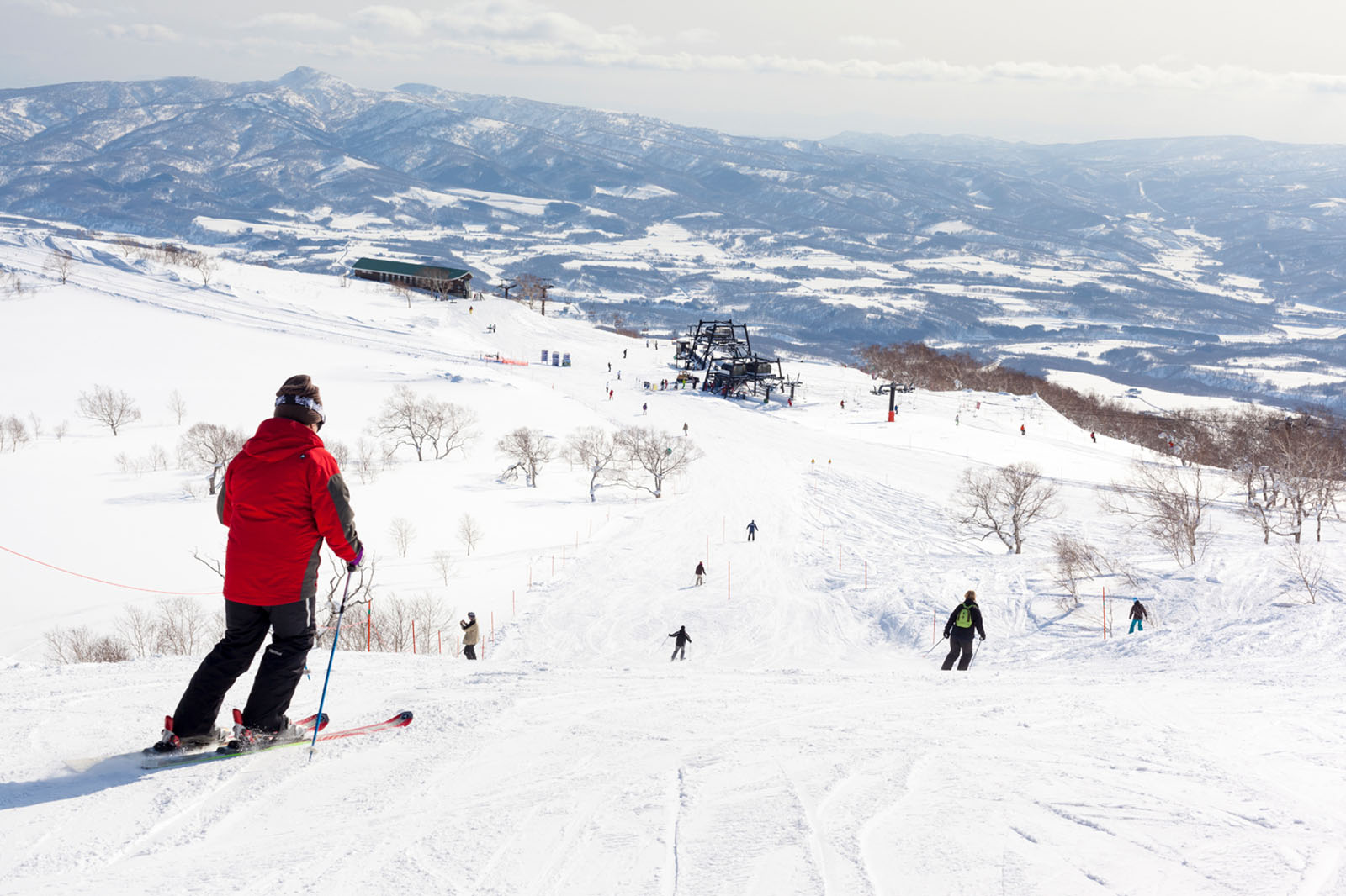 Ski slopes in Japan