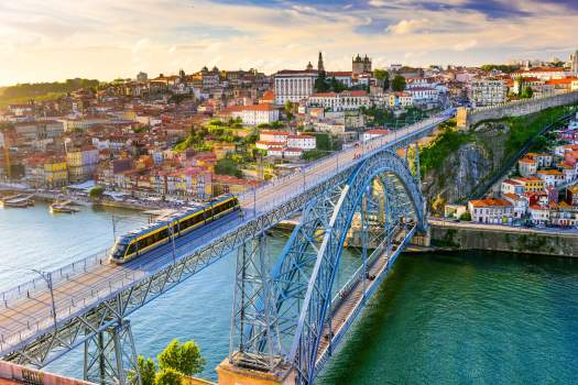 View of Porto and bridge, Portugal