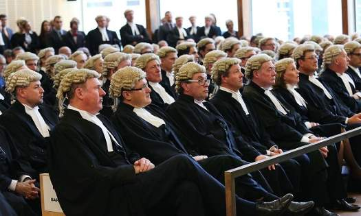 Courtroom full of barristers