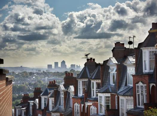 view of terraced houses in London